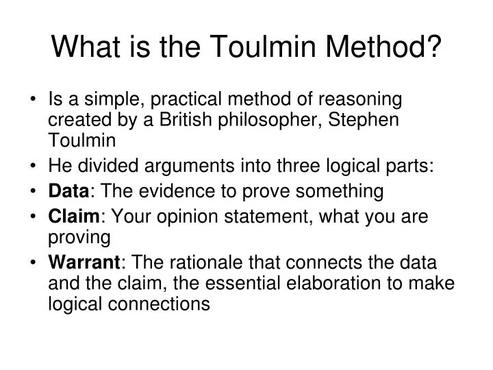 What is the toulmin method