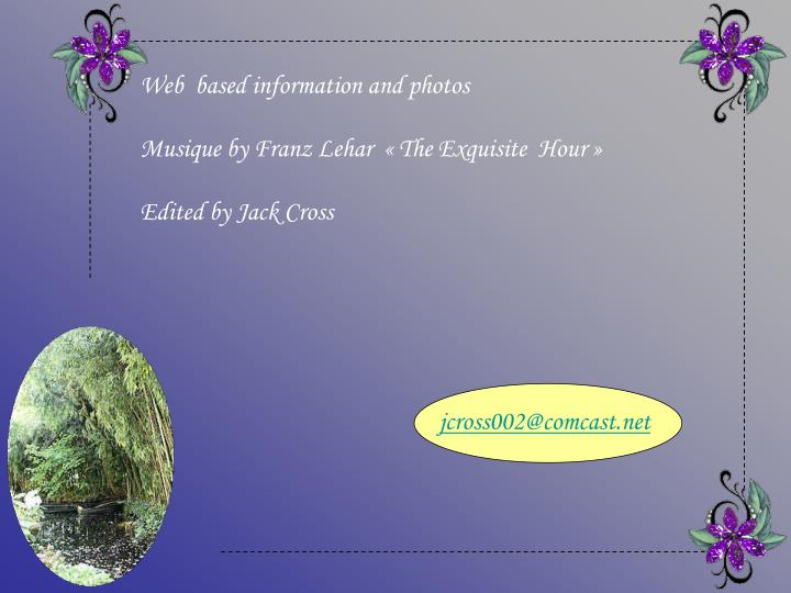 Web  based information and photos