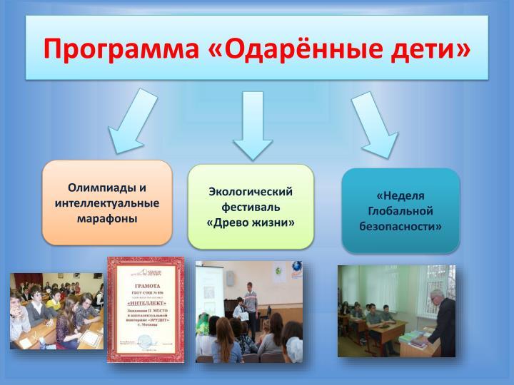 Программа «Одарённые дети»