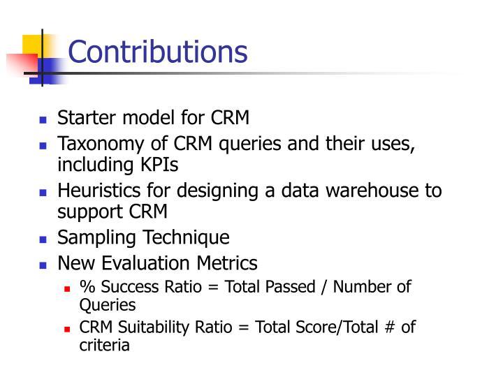 Starter model for CRM