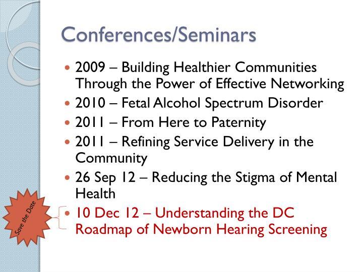 Conferences/Seminars