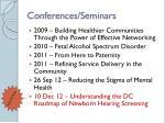 conferences seminars