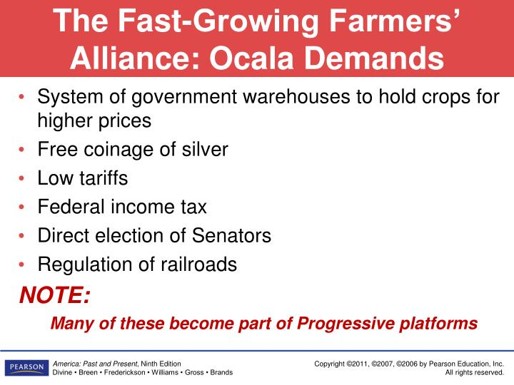 The Fast-Growing Farmers' Alliance: Ocala Demands