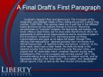 a final draft s first paragraph
