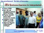 ceu conference experience for undergraduates