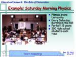 example saturday morning physics