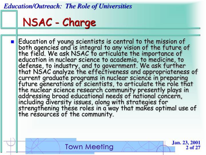 NSAC - Charge