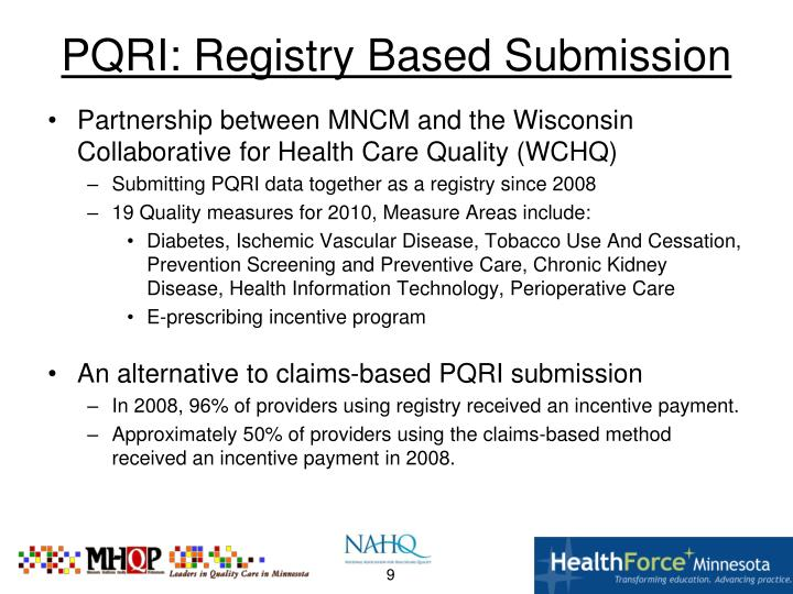 PQRI: Registry Based Submission