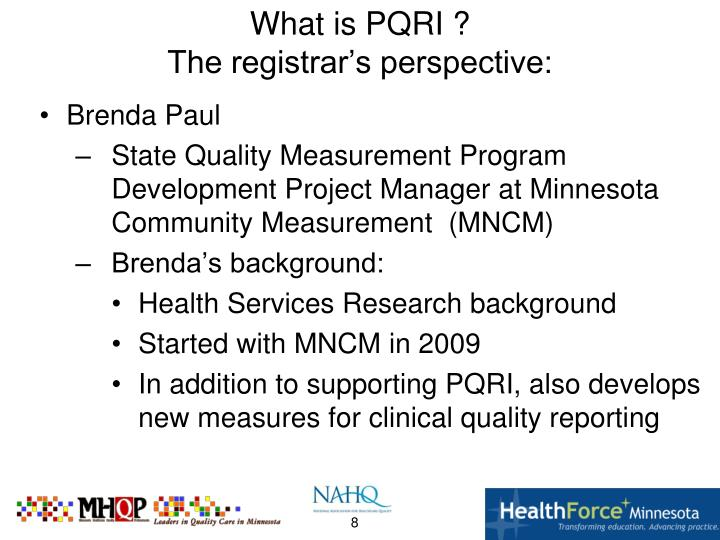 What is PQRI ?