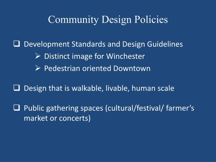 Community Design Policies