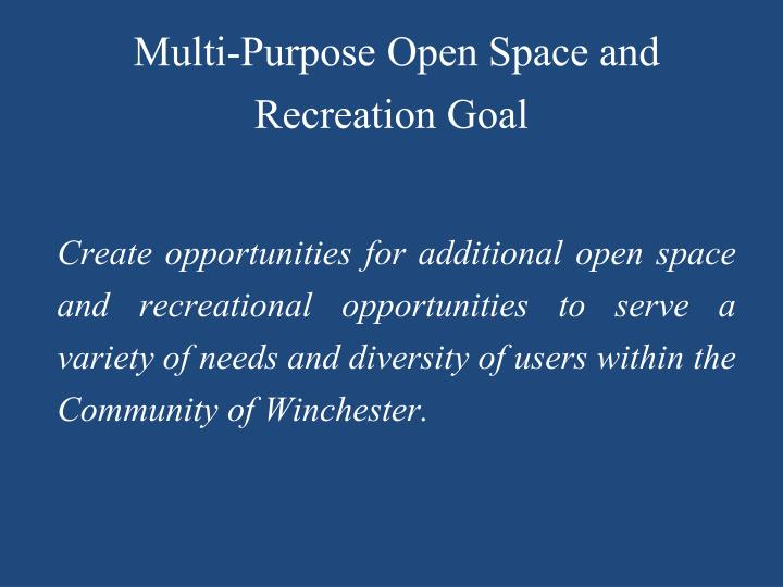 Multi-Purpose Open Space and Recreation Goal