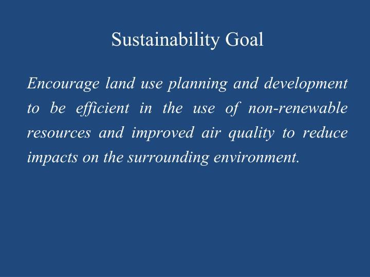 Sustainability Goal