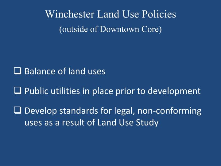 Winchester Land Use Policies