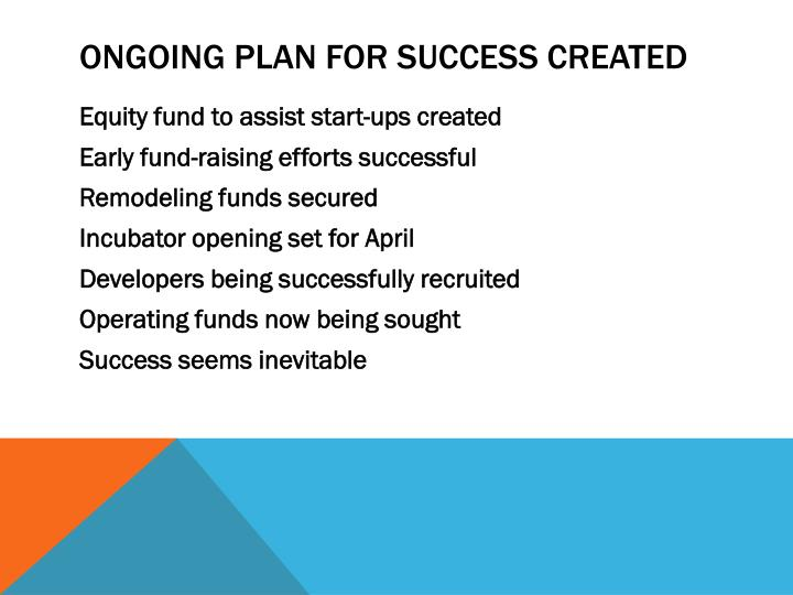 Ongoing plan for success created