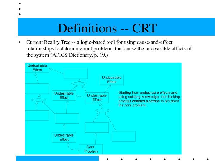 Definitions -- CRT
