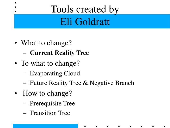 Tools created by