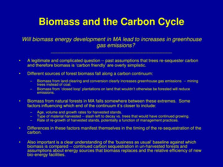 Biomass and the Carbon Cycle