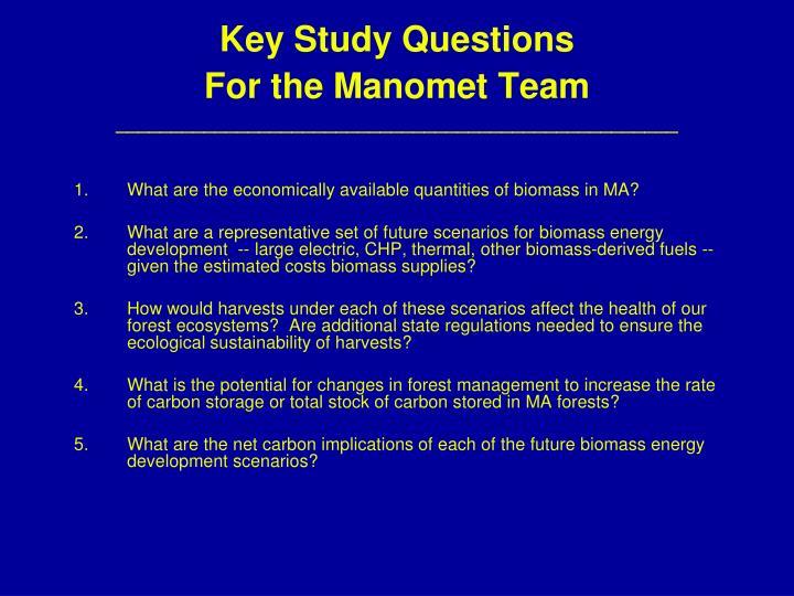 Key Study Questions