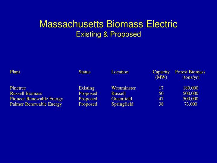 Massachusetts Biomass Electric