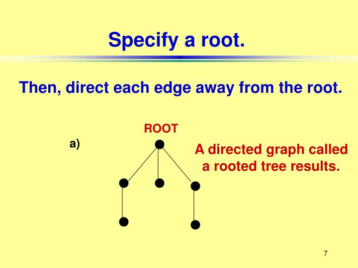 Specify a root.