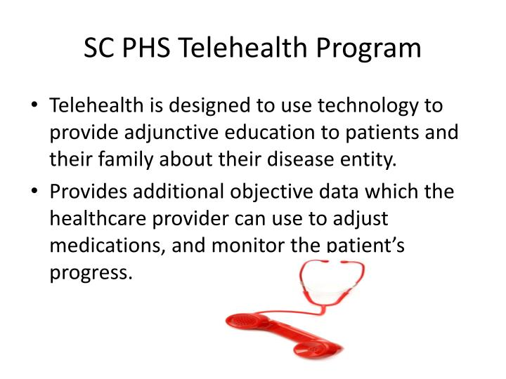 SC PHS Telehealth Program
