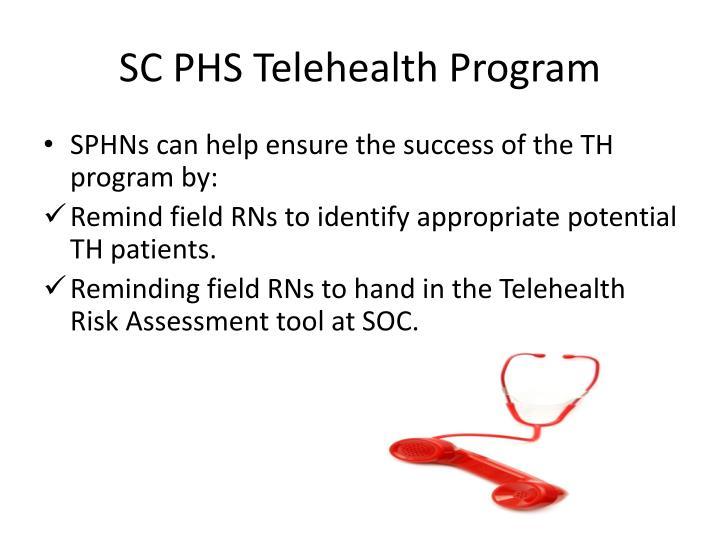 SC PHS Telehealth Program