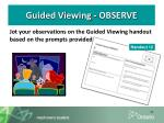 guided viewing observe