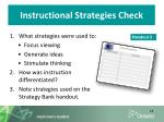instructional strategies check