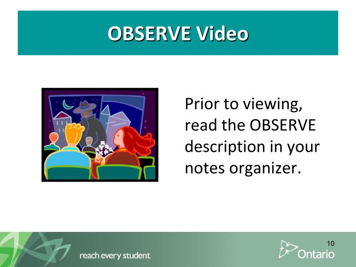 OBSERVE Video