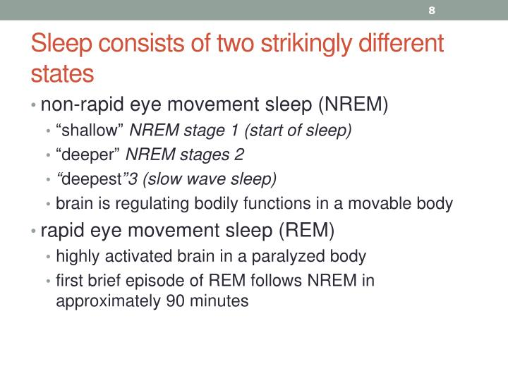 Sleep consists of two strikingly different states