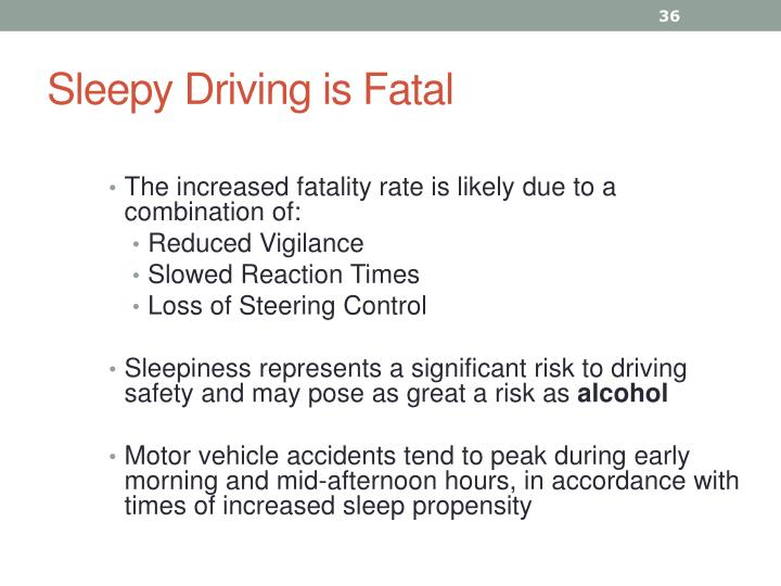 Sleepy Driving is Fatal