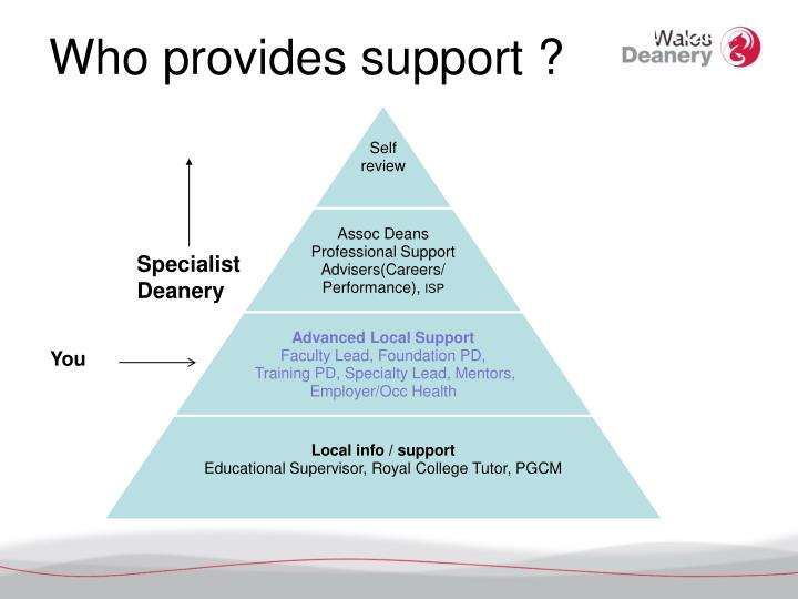 Who provides support ?