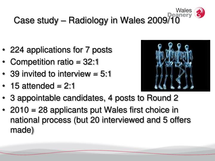 Case study – Radiology in Wales 2009/10