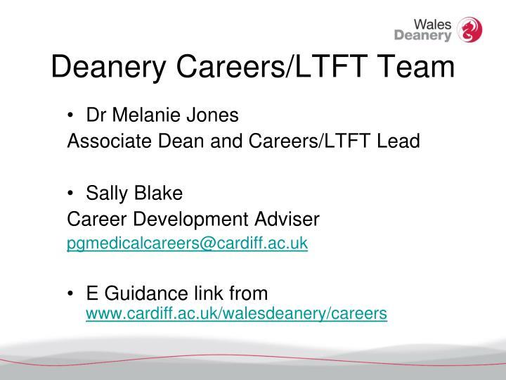 Deanery Careers/LTFT Team