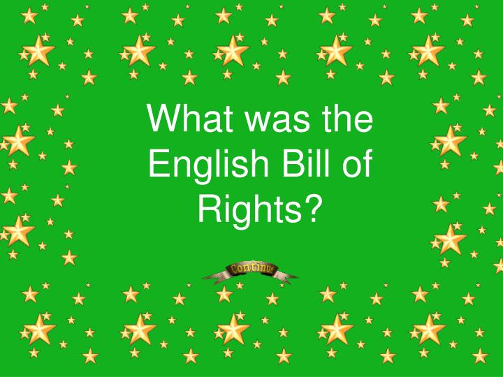 What was the English Bill of Rights?