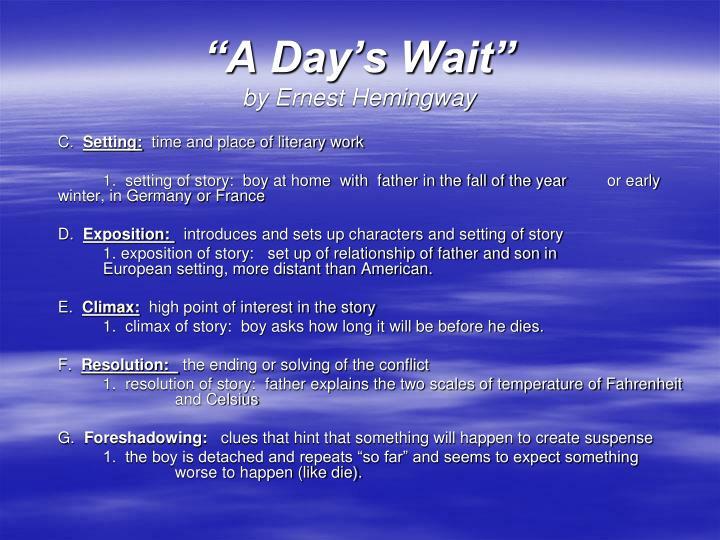"""A Day's Wait"""