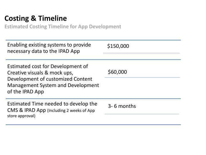 Costing & Timeline