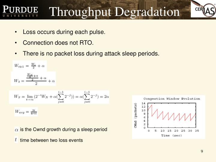Throughput Degradation