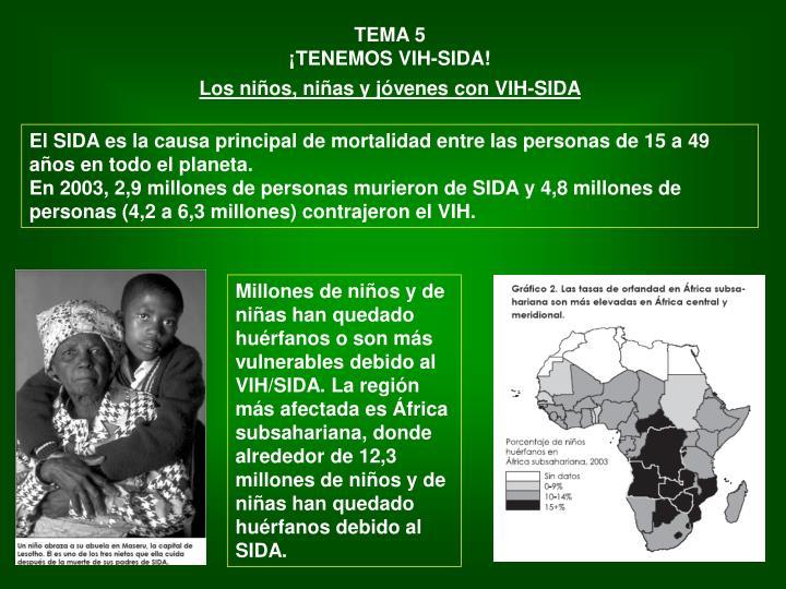 El SIDA es la causa principal de mortalidad entre las personas de 15 a 49 años en todo el planeta.