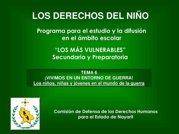 LOS DERECHOS DEL NIÑO