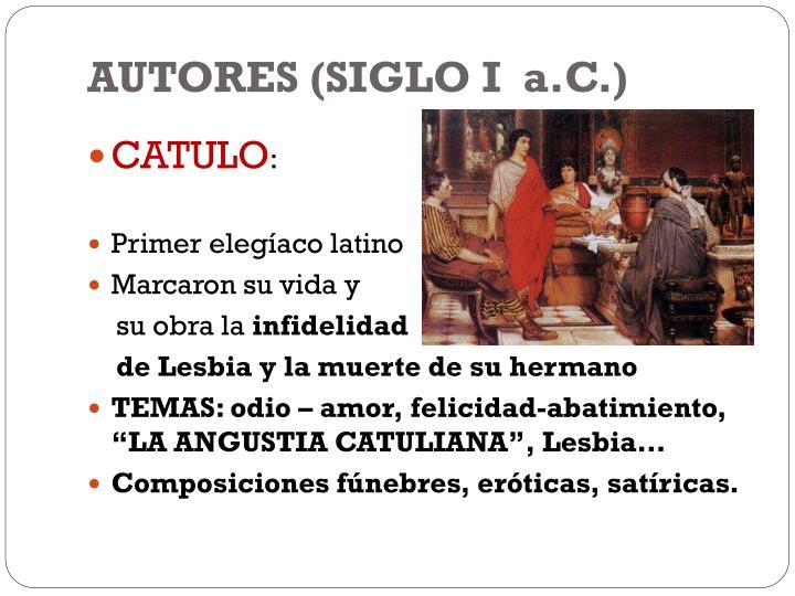 AUTORES (SIGLO I  a.C.)