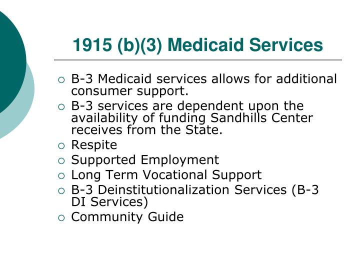 1915 (b)(3) Medicaid Services