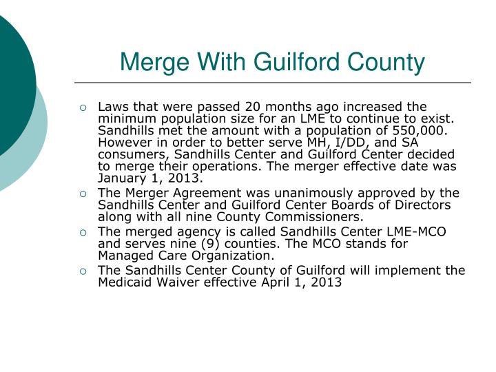 Merge with guilford county