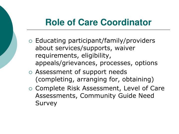 Role of Care Coordinator