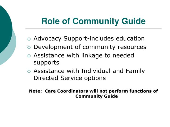 Role of Community Guide
