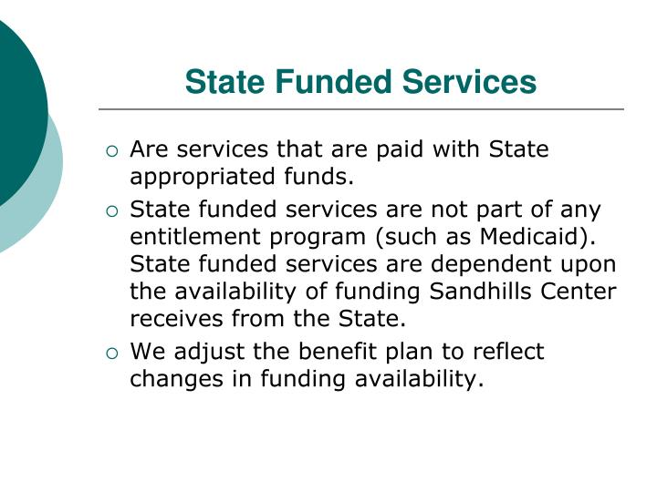 State Funded Services