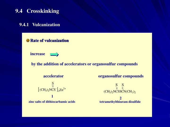 Rate of vulcanization