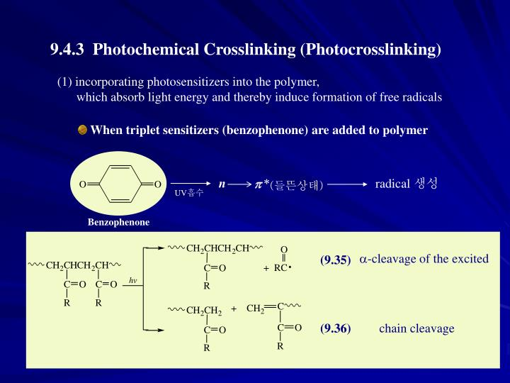 (1) incorporating photosensitizers into the polymer,