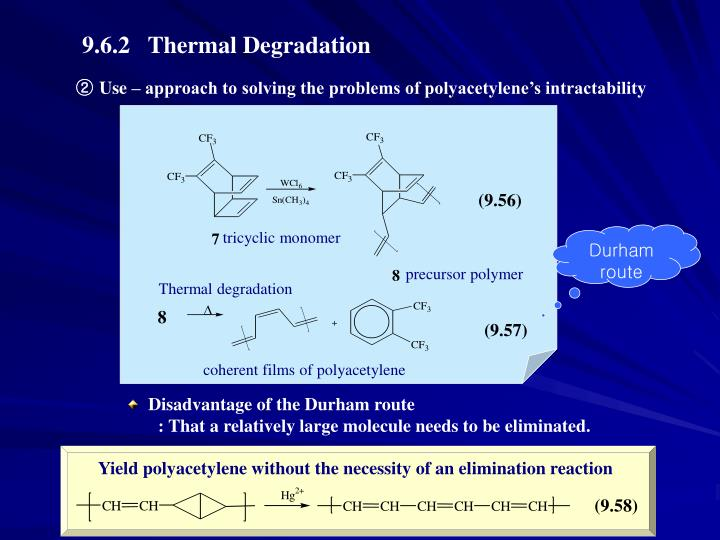 9.6.2   Thermal Degradation