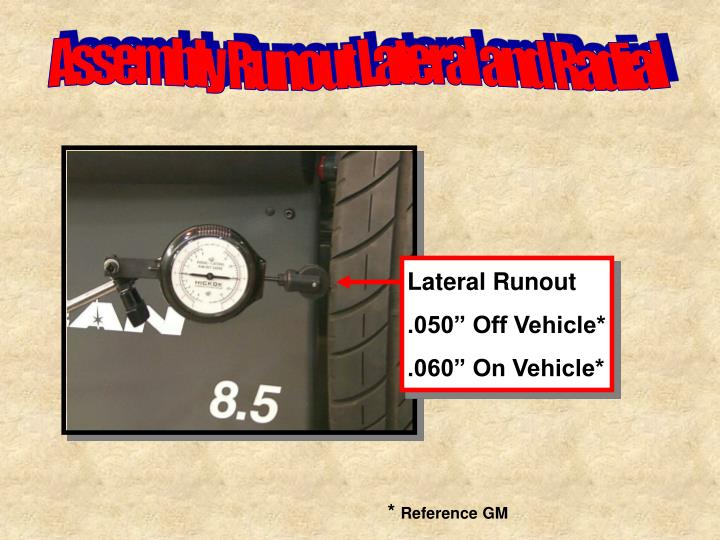 Lateral Runout